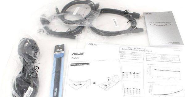 Accesoriile incluse in pachetul lui PA329Q