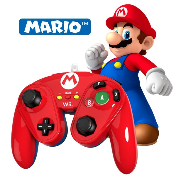 Wired Fight Pad Mario