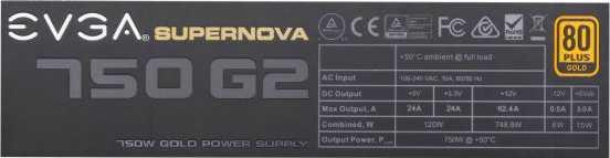 EVGA SuperNOVA 750 G2
