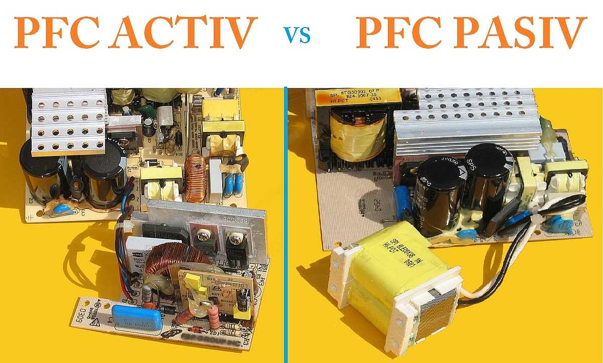 Exemplu de PFC activ versus PFC pasiv