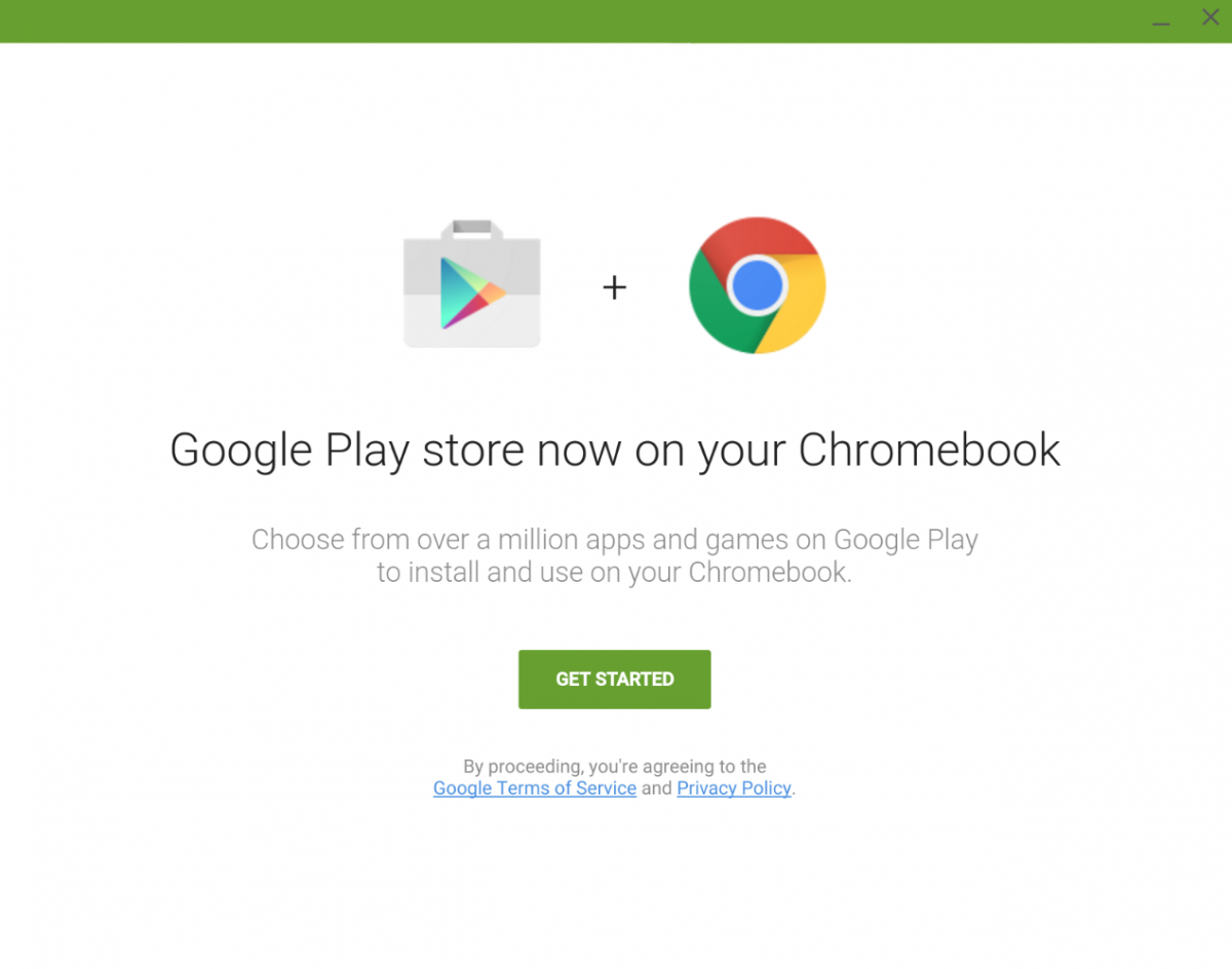 Google Play Store pe Chrome OS