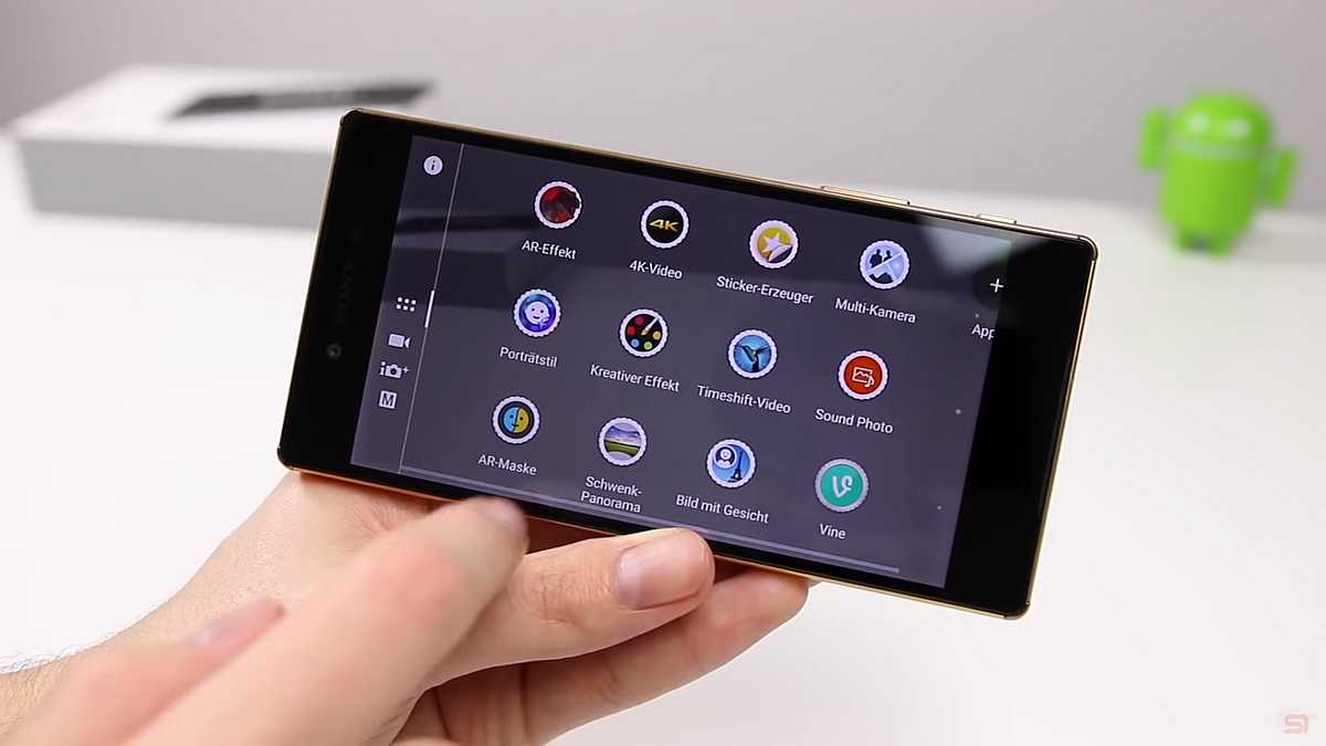 Review Sony Xperia Z5 Premium - Meniul in care e pitita optiunea de inregistrare 4K