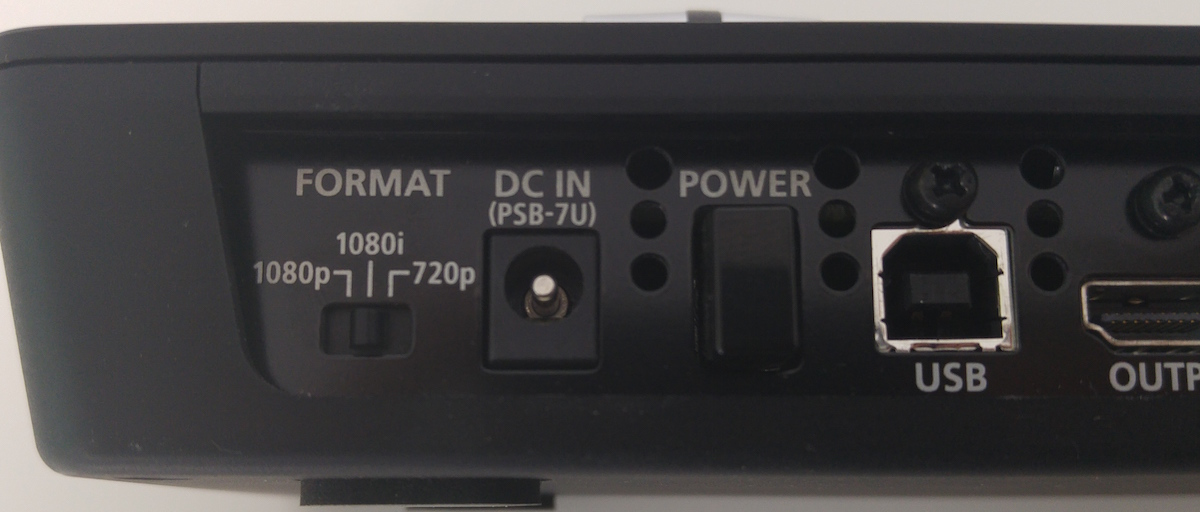 Roland V-1HD switching resolution