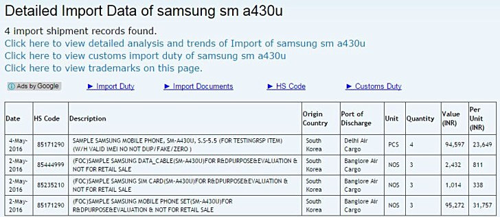 Photo of Samsung Galaxy A4 apare pe Zauba