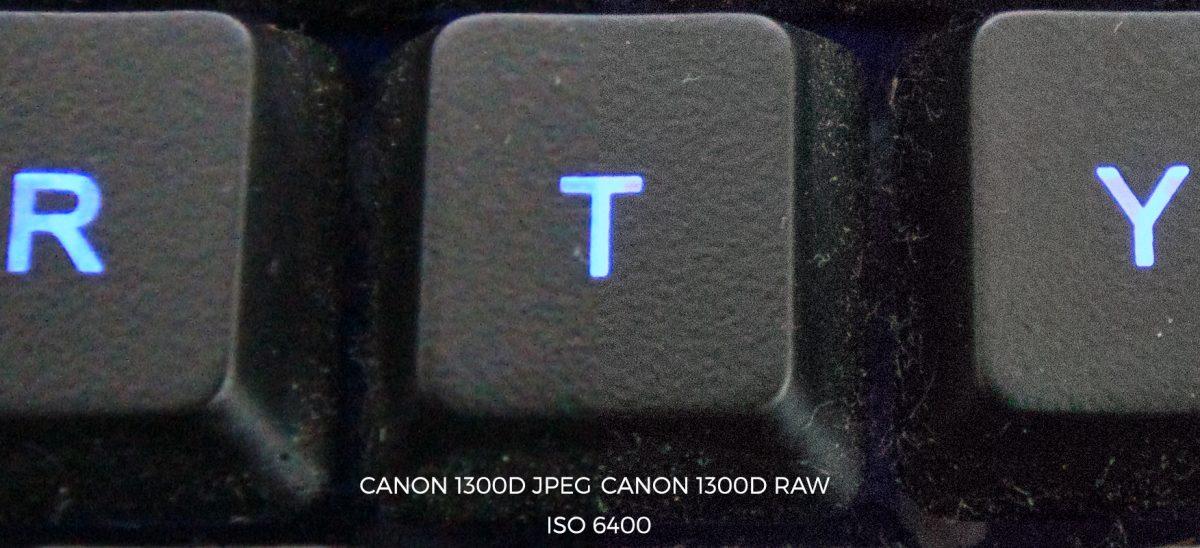 canon 1300d iso 6400