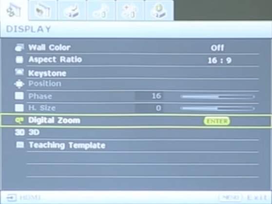 Review BenQ MH530 - Setari Display
