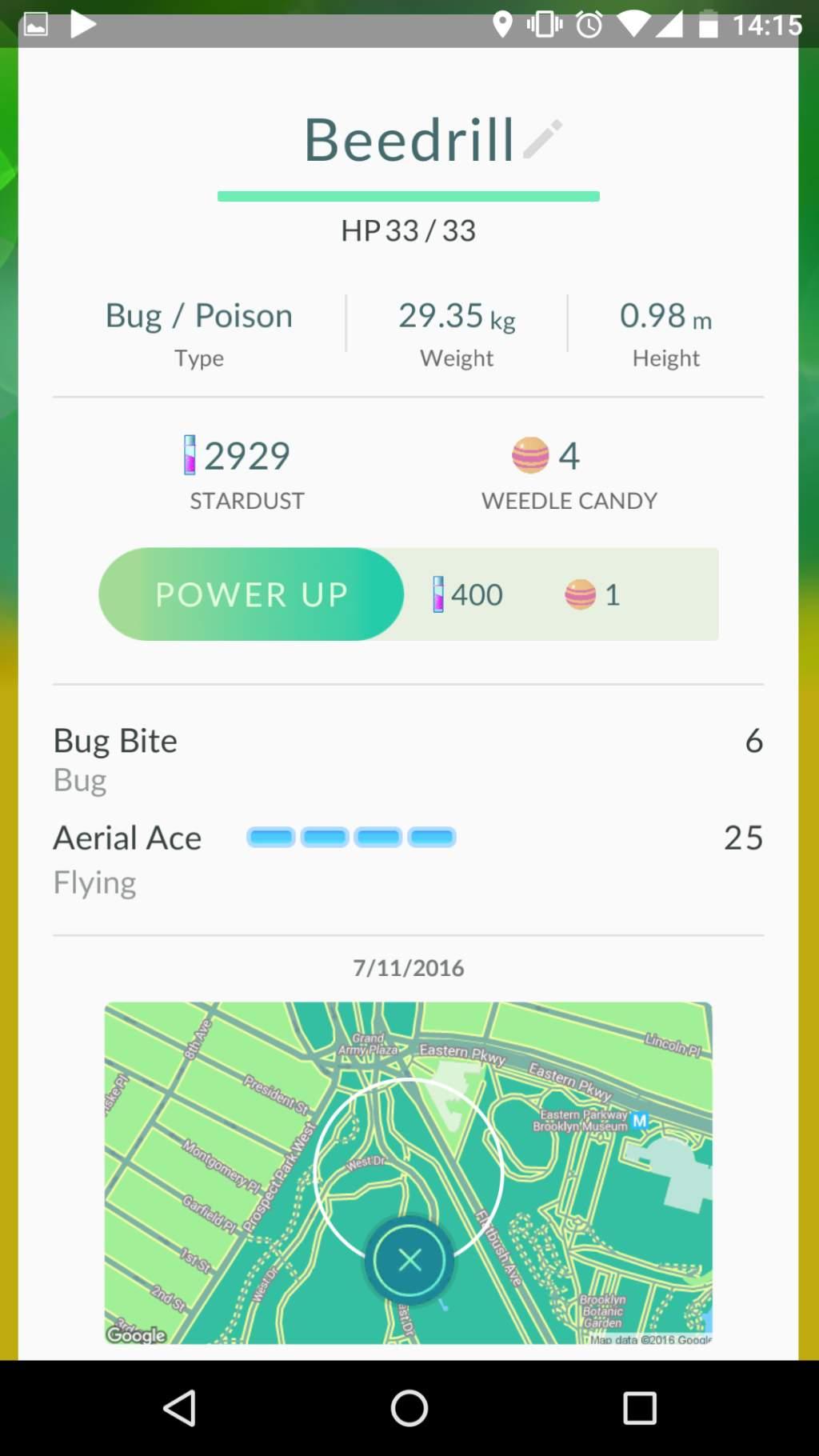 Miscarile unui Pokemon