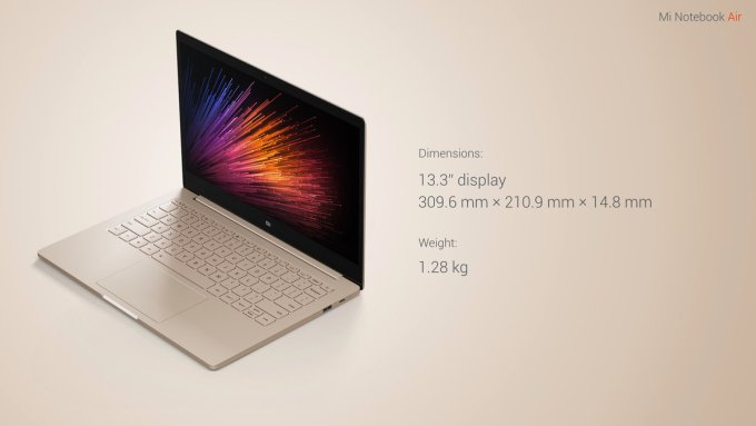 Notebook Air 13.3 Specs