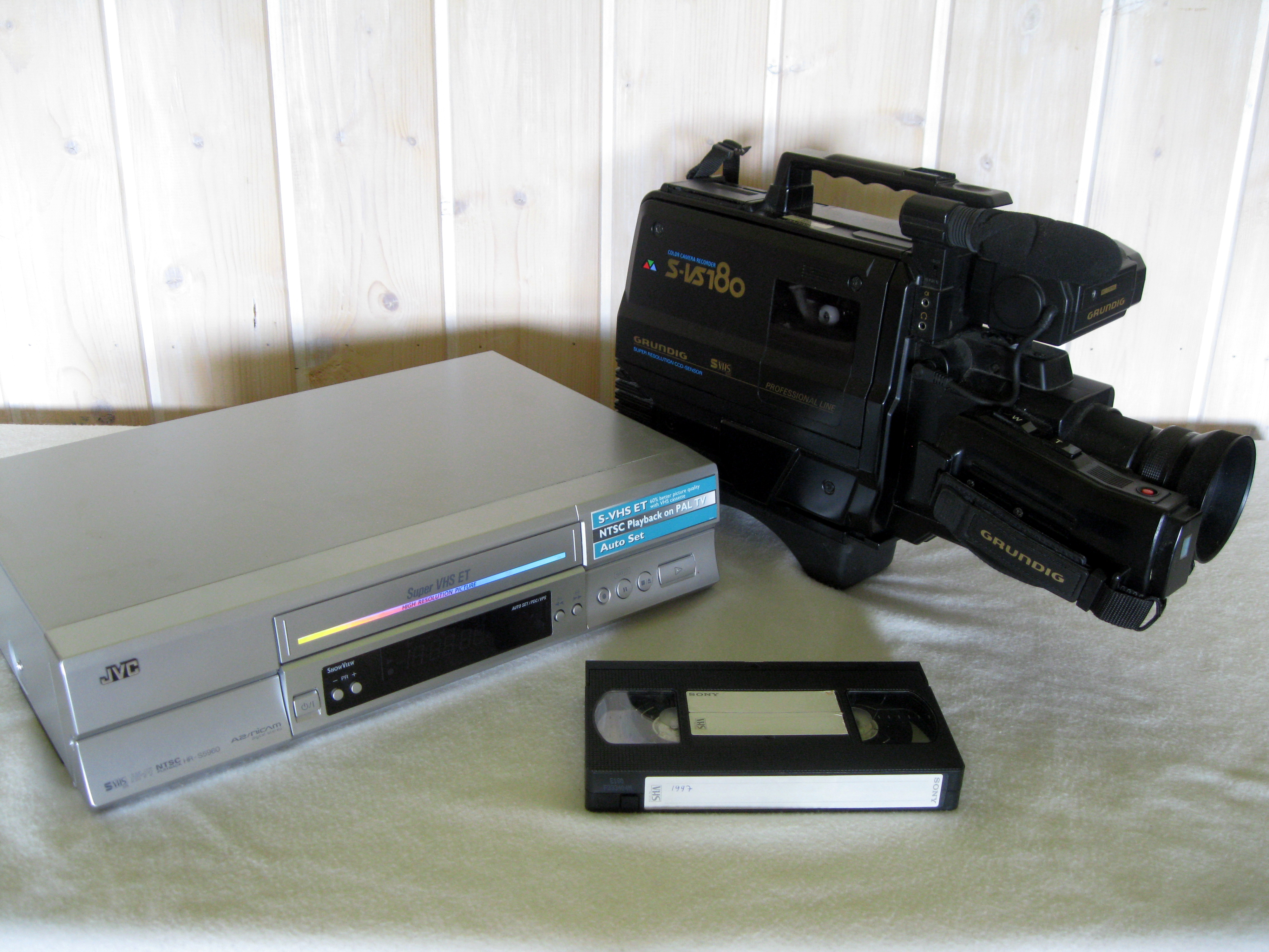 VHS_recorder,_camera_and_cassette