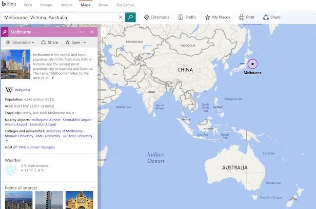 Photo of Este Australia lângă Japonia? Bing Maps spune că da.
