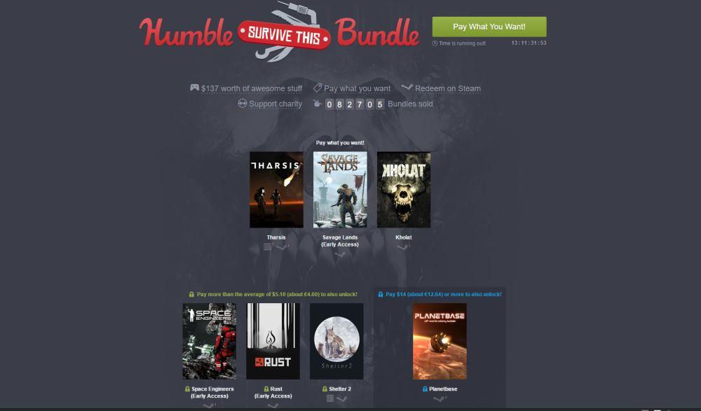 Photo of Humble Bundle revine cu jocuri de supraviețuire