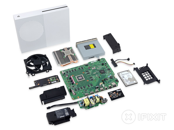Photo of Xbox One S deschis si analizat de catre iFixit