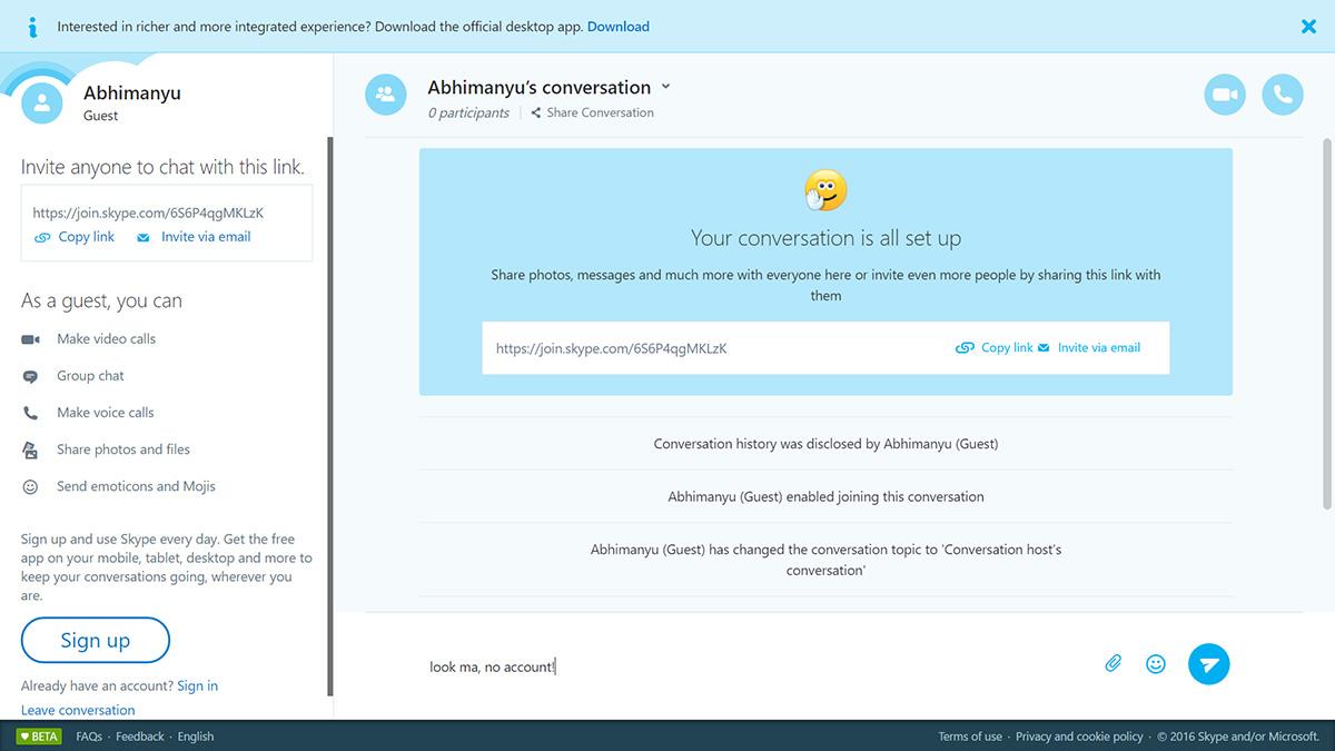 Photo of Acum poți face apeluri pe Skype fără un cont