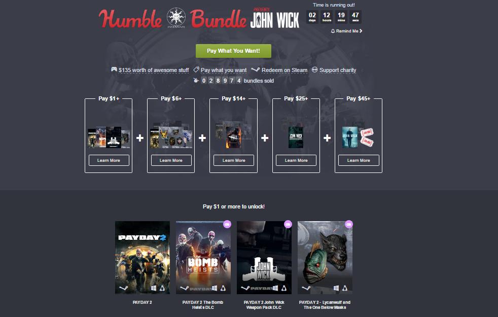 Photo of Humble Bundle este plin de Payday 2 și John Wick