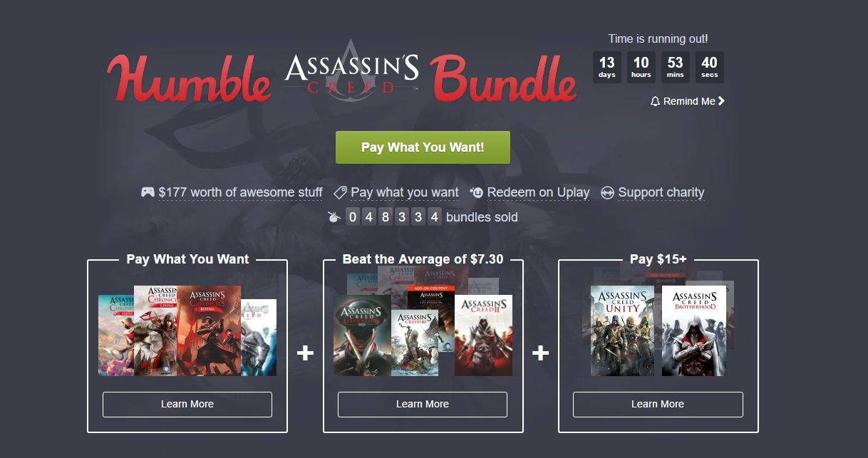 Photo of Humble Assassin's Creed Bundle