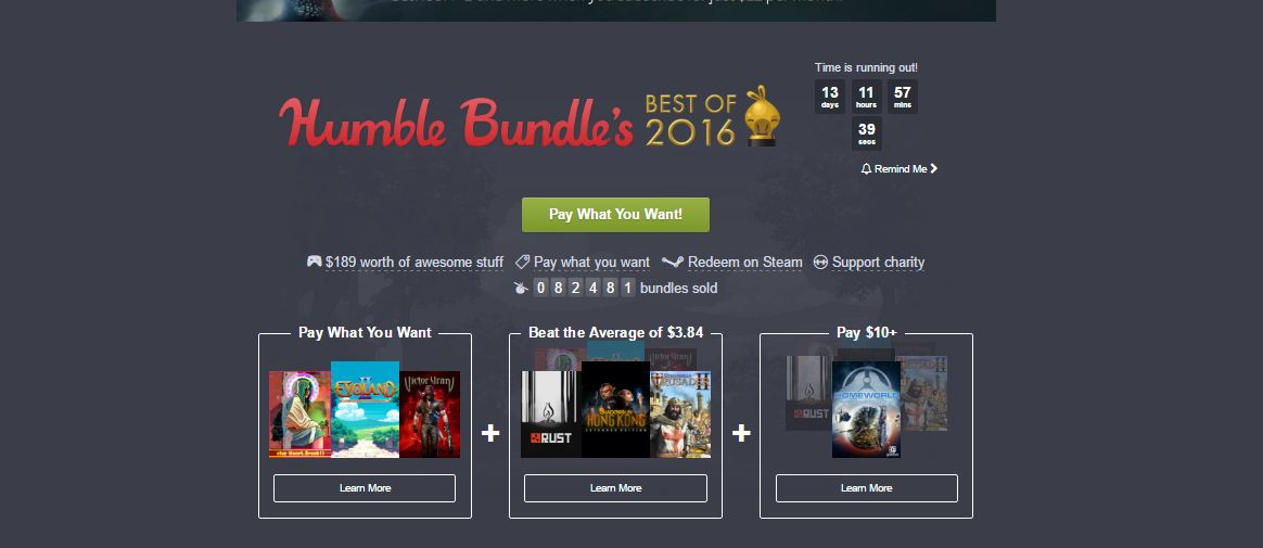 Photo of Humble Best of 2016 Bundle