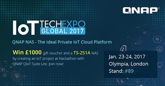 Photo of QNAP participă la IoT Tech Expo Global 2017, lansând un Hackathon IoT pentru programatori