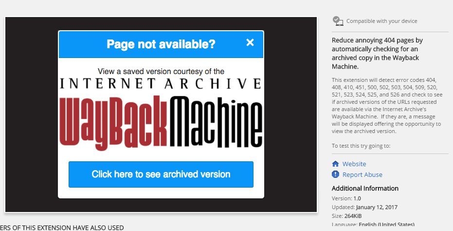 Photo of Wayback Machine are acum o extensie pentru Chrome