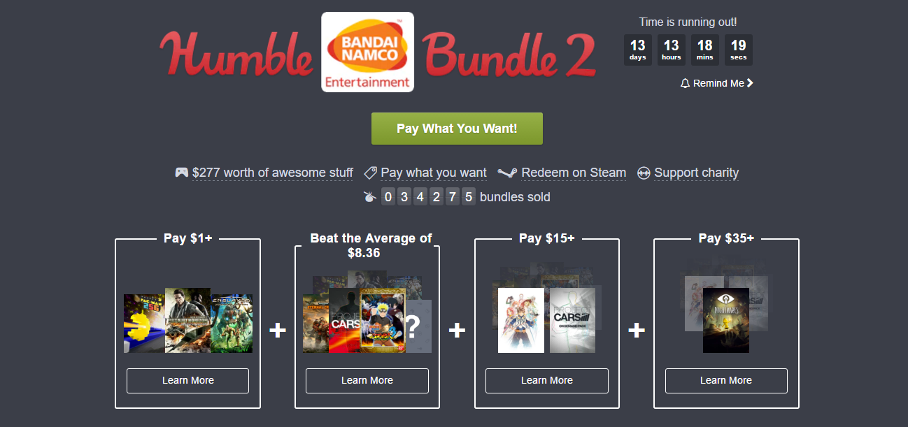 Photo of Humble Bandai Namco Bundle
