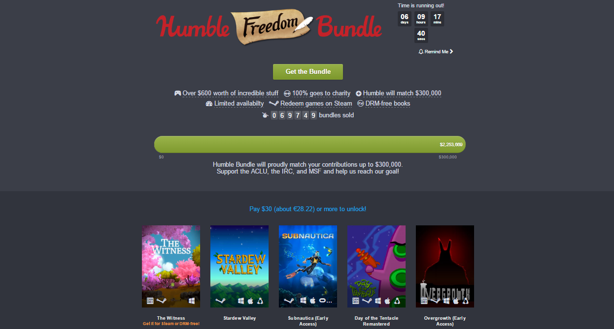 Photo of Humble Freedom Bundle este un succes imens