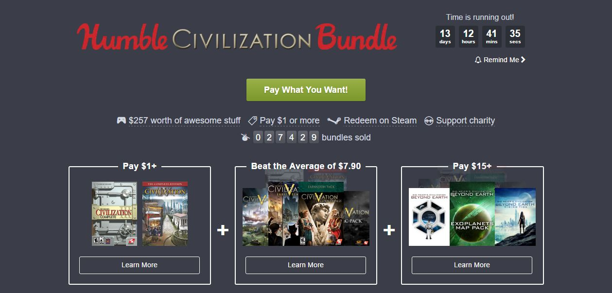 Photo of Humble Civilization Bundle