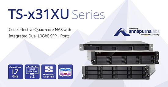 Photo of QNAP lansează NAS-urile rentabile TS-x31XU pentru rack, cu procesoare quad-core și două porturi 10GbE SFP+