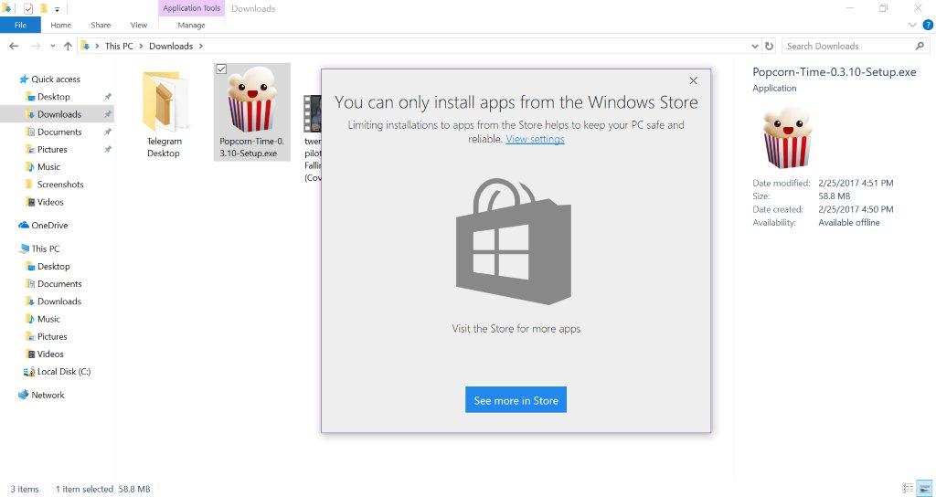 Photo of Windows 10 poate împiedica instalarea de aplicații Win32