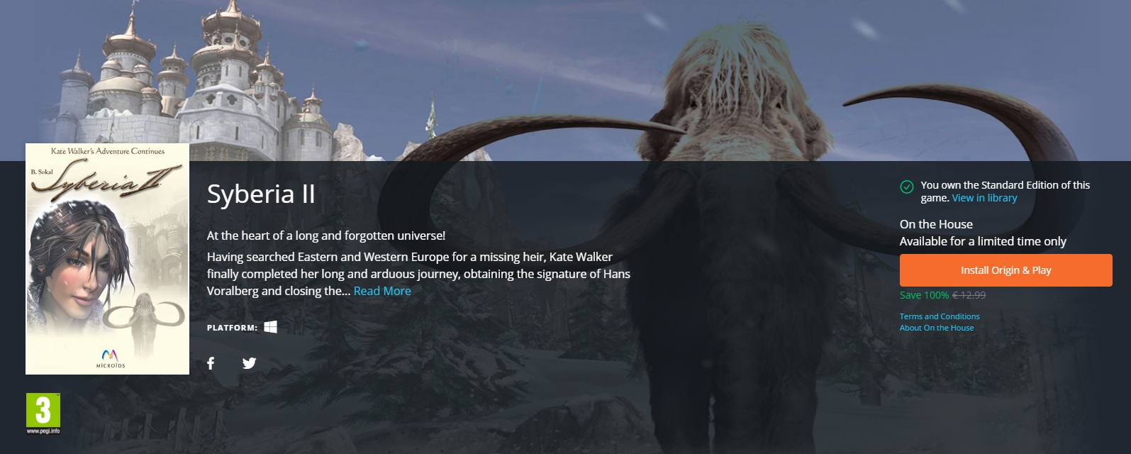 Photo of Syberia 2 este gratuit pe Origin