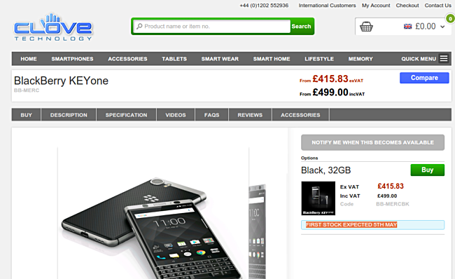 Photo of BlackBerry Keyone va fi lansat in Europa pe 5 Mai