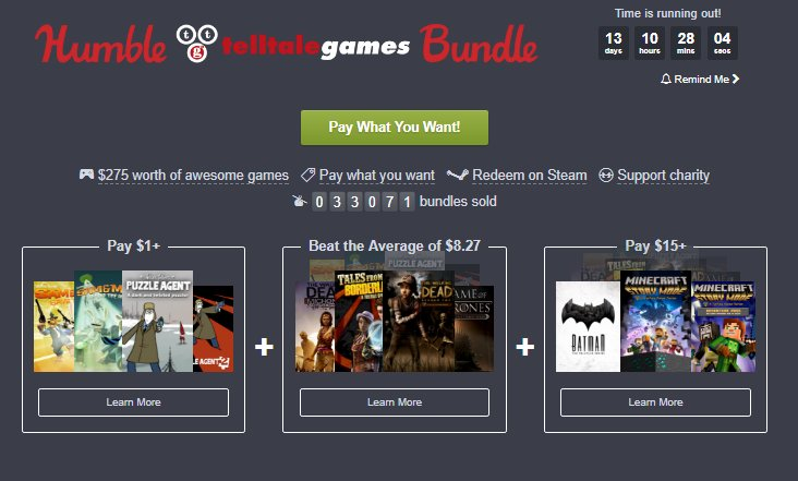 Photo of Humble Telltale Bundle