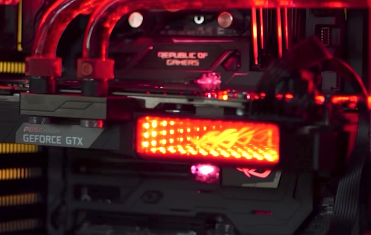 Photo of Asus ROG PC racit cu lichid – Soft tubing loop!