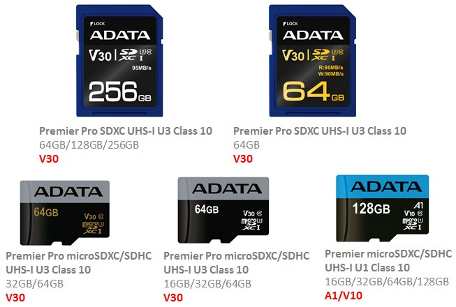 Photo of ADATA implementează standardele SD A1 și V10/V30 pe cardurile Premier și Premier Pro