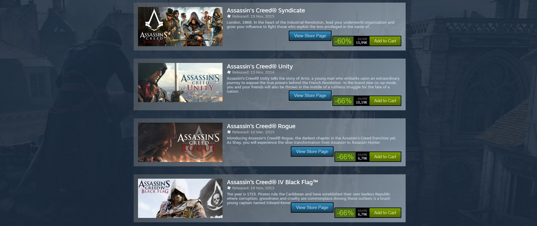 Photo of Seria Assassin's Creed este la reducere pe Steam până vineri seara