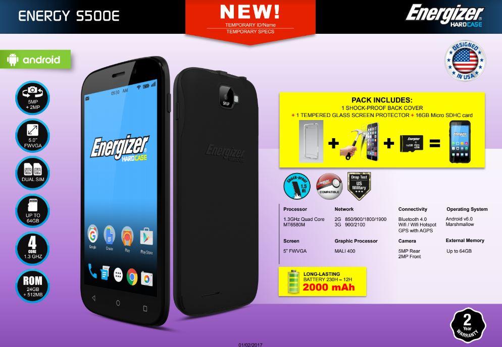 Photo of Energizer ENERGY S500E – Telefon rugged cu Android, pentru orice buzunar!