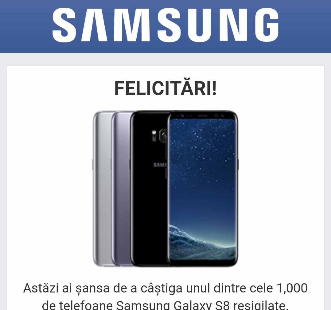 """Photo of Țeapă cu telefoane Samsung Galaxy S8 """"gratuite"""""""