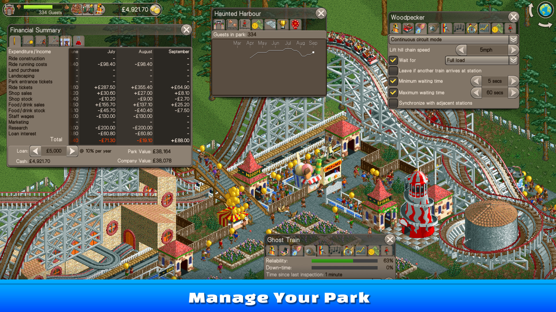 Photo of RollerCoaster Tycoon Classic vine și pe PC