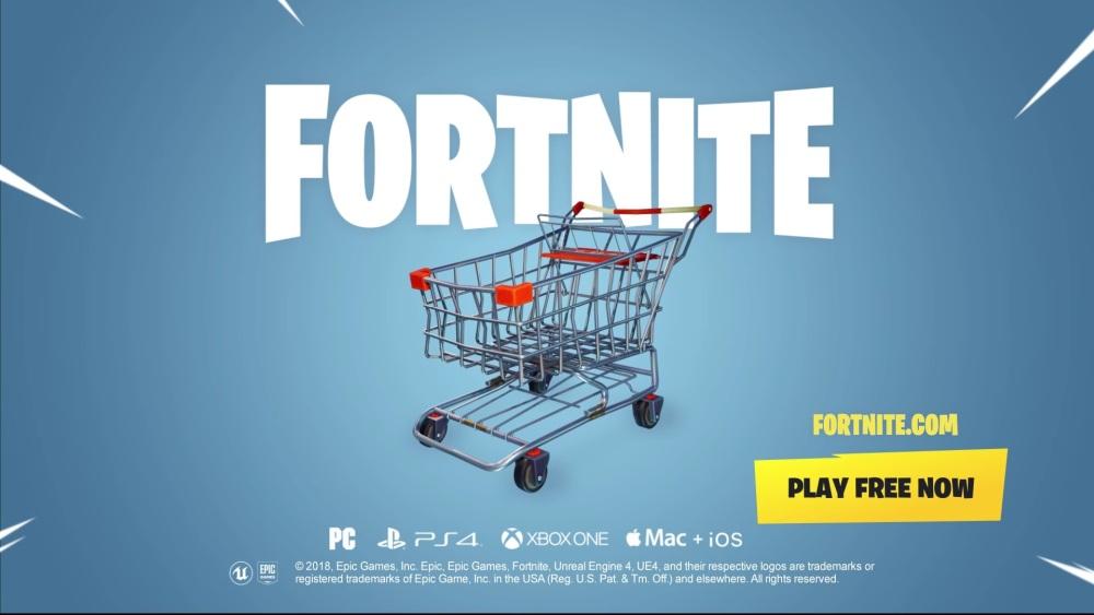 """Photo of Fortnite are acum """"vehicule"""" în joc – un cărucior de cumpărături"""