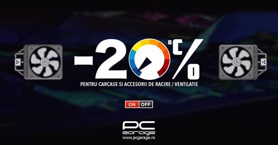 """Photo of PC Garage """"scade temperatura"""" cu reduceri de cel puţin 20%, la gama de carcase şi accesorii de răcire"""