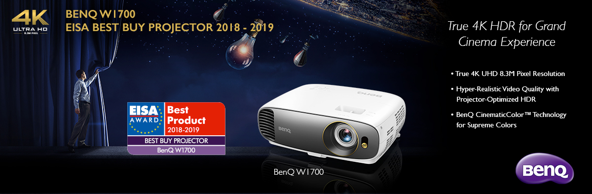 Photo of BenQ W1700 câștigă prestigioasa distincție EISA Best Buy Projector 2018-2019