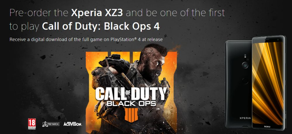 Photo of Dați pre-comandă la Xperia XZ3 și primiți Call of Duty: Black Ops 4