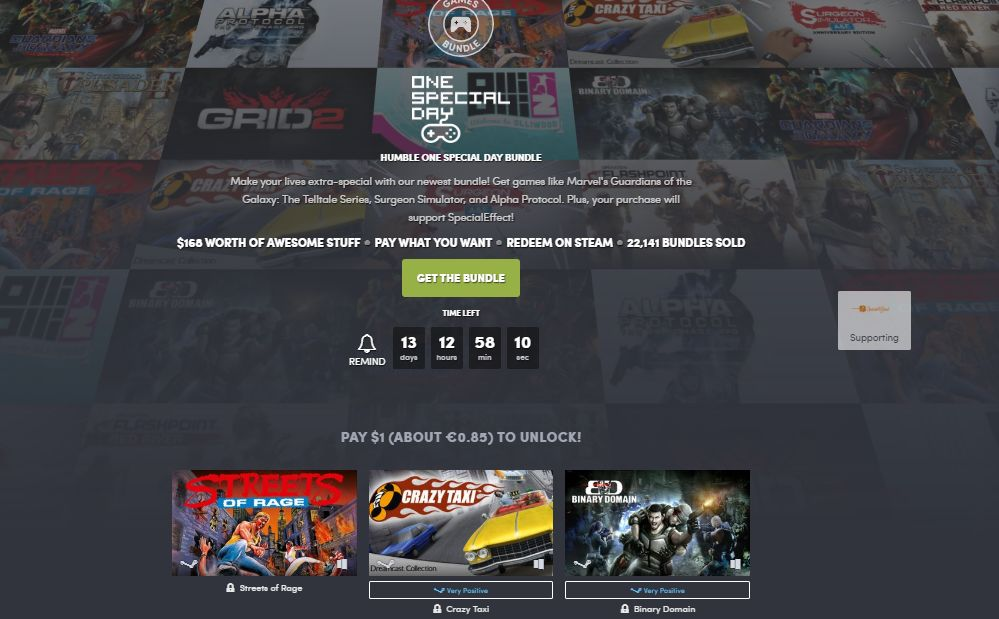 humble bundle one day