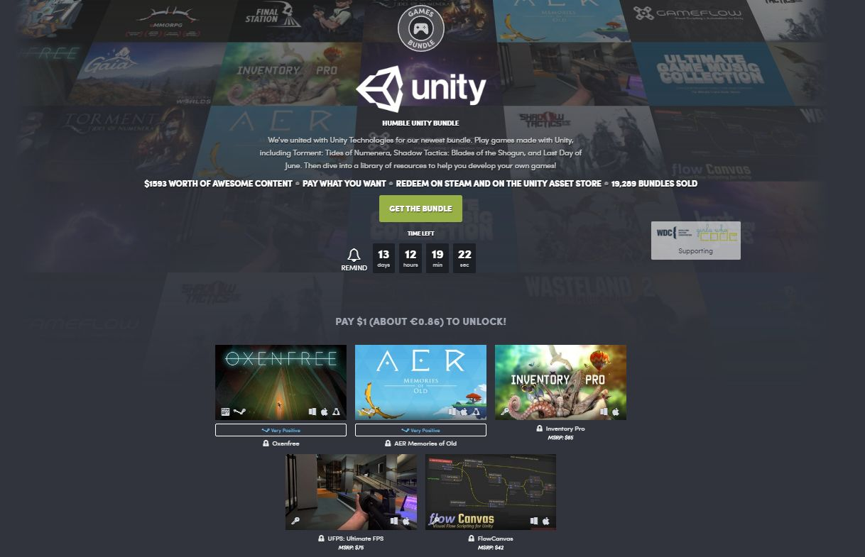 Photo of Humble Unity Bundle