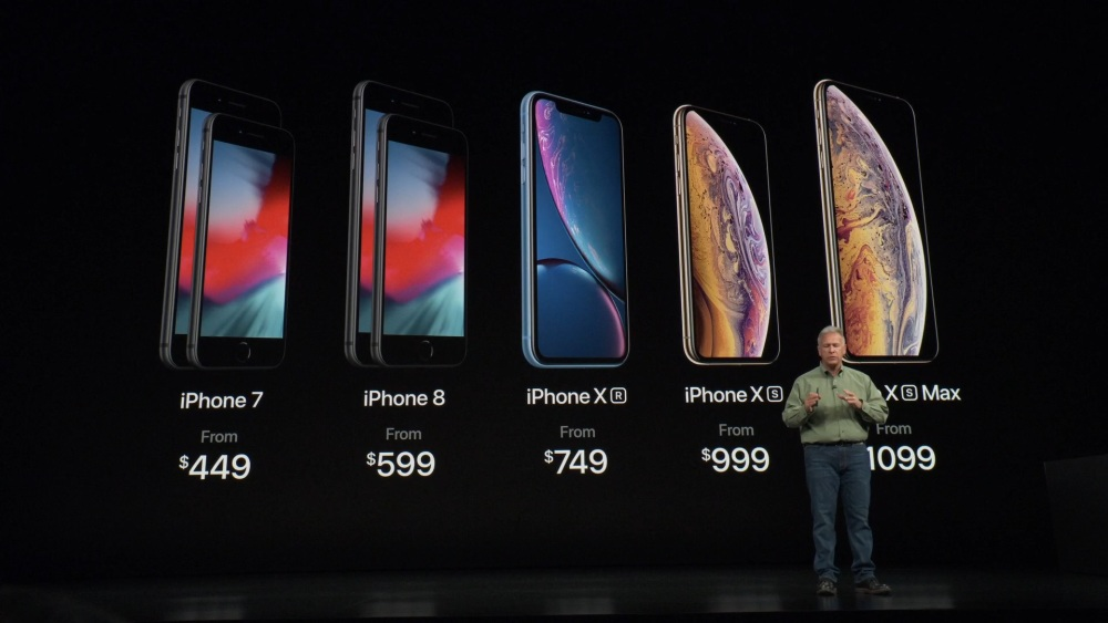 Apple iPhone Xs iPhone XR iPhone Xs Max prices