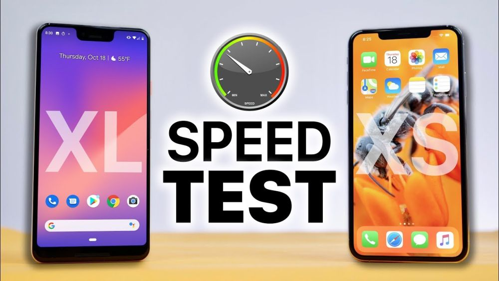 Photo of iPhone XS Max spulberă Google Pixel 3 XL într-un test de viteză