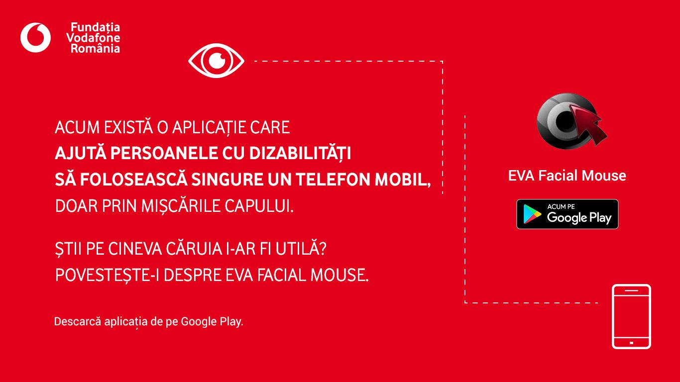 Photo of Fundatia Vodafone Romania lanseaza EVA Facial Mouse, aplicatia prin care persoanele cu dificultati neuromotorii pot folosi dispozitivele mobile