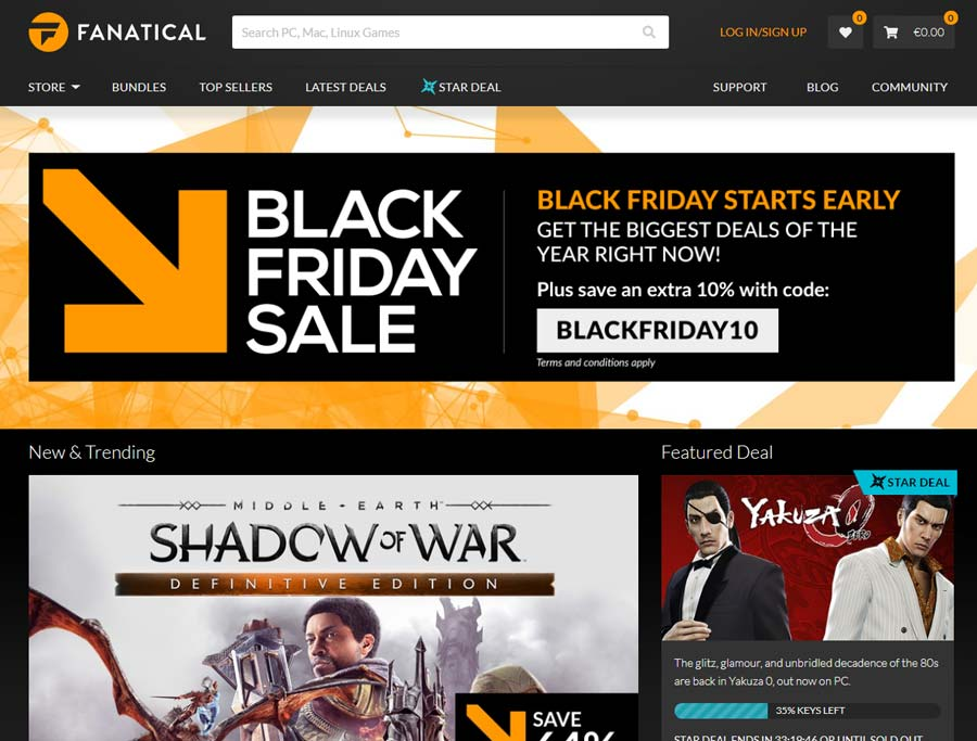 Photo of Fanatical a dat startul la reducerile de Black Friday
