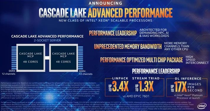 intel cascade lake advanced xeon