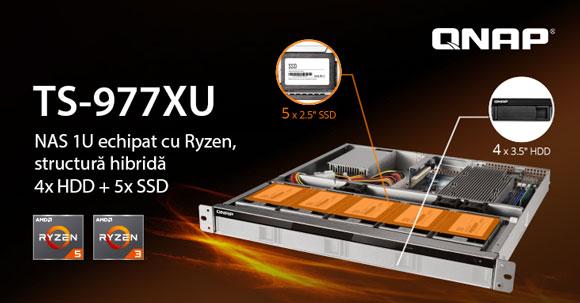 Photo of QNAP a lansat TS-977XU, primul NAS 1U cu structură hibridă, echipat cu procesoare AMD Ryzen