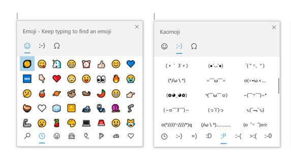 windows 10 emoji picker