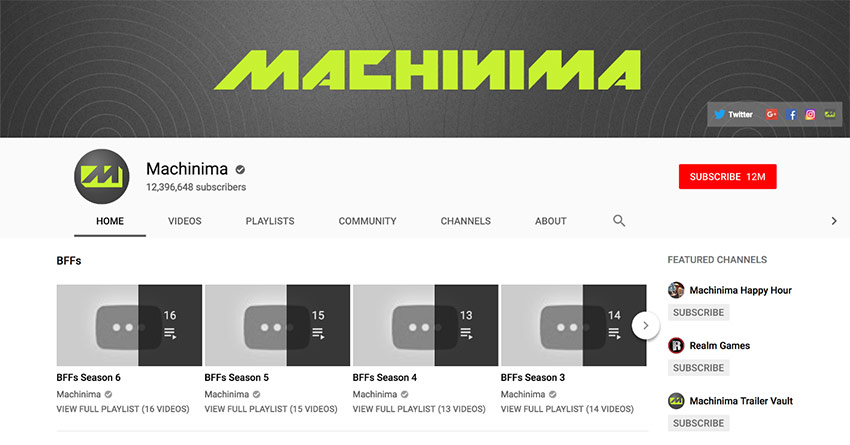 Machinima YouTube